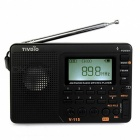 V-115 FM/AM/SW Radio Receiver Bass Sound MP3 Player - Black