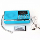Home Stereo Speaker Mini Portable Radio TF Card Speaker - Blue