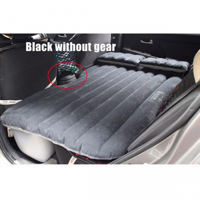 Car Back Seat Cover Air Mattress Travel Inflatable Car Bed - BlackCar Cushions and Pillows<br>Form  ColorBlack without gearModel-Quantity1 DX.PCM.Model.AttributeModel.UnitMaterialPVCShade Of ColorGrayTypeOthers,N/ASurface MaterialPVCLining MaterialPVCPacking List1 x Car Air Mattress Travel Bed<br>