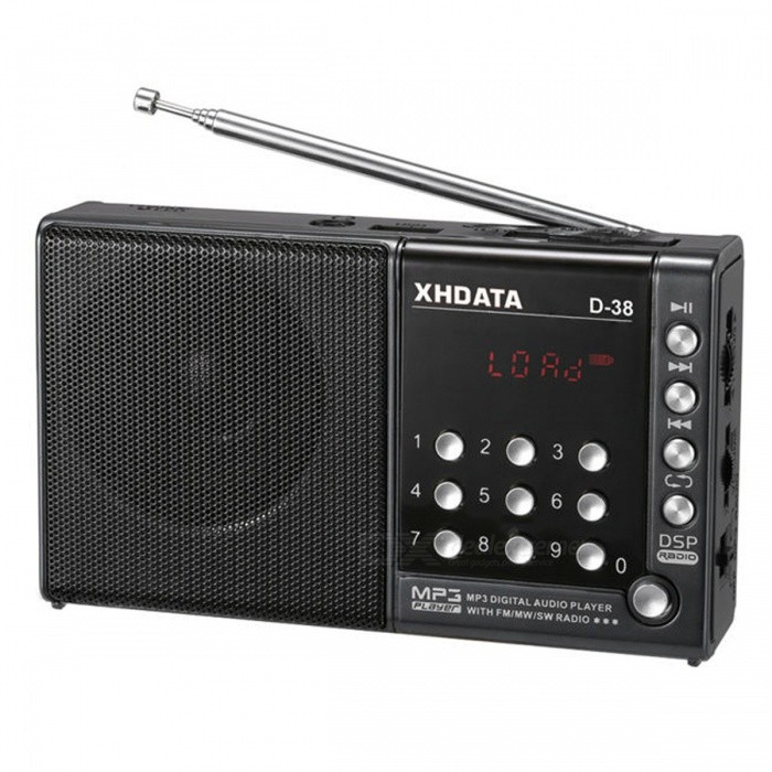 D-38 FM-Stereo / MW / SW / MP3-Player / DSP Vollband Radio - Gray