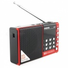 D-38 FM-Stereo / MW / SW / MP3 Player / DSP Vollband Radio-Rot