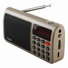T50 Portable World Band FM / MW / SW Stereo Radio Lautsprecher-Gold