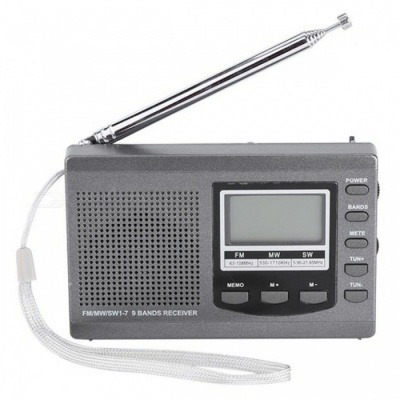 Radio DSP Emergency Mini Stereo FM Broadcasting Player - Gray