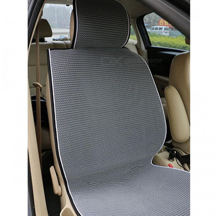 breathable mesh car seat cover pad cushion for most cars grey free shipping dealextreme. Black Bedroom Furniture Sets. Home Design Ideas