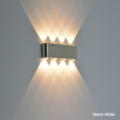 8W Aluminum LED Wall Lamp for Bedroom - Warm White