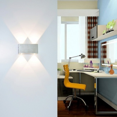 4W Aluminum LED Wall Lamp for Bedroom - Warm White