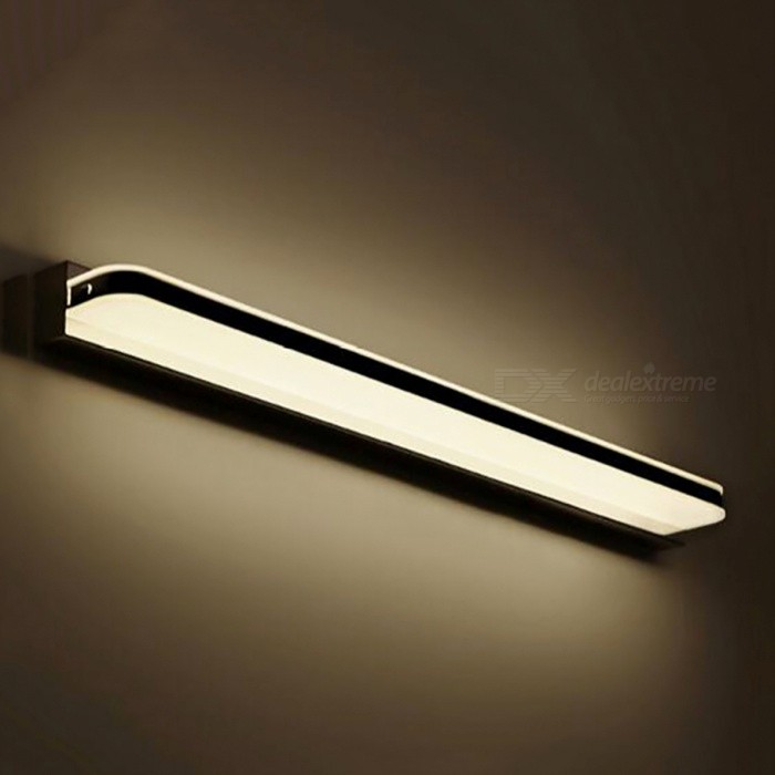 9W 42cm 2835 LED Wall Lamp Bathroom Light - Warm WhiteWall Lights<br>Form  ColorWarm White (9W 42cm)MaterialStainless steel &amp; AcrylicQuantity1 DX.PCM.Model.AttributeModel.UnitPower9WRated VoltageAC 85-265 DX.PCM.Model.AttributeModel.UnitEmitter TypeOthers,2835Actual LumensN/A DX.PCM.Model.AttributeModel.UnitColor BINWarm WhiteColor Temperature2700-3400KDimmableNoInstallation TypeWall MountPacking List1 x LED Wall Lamp<br>