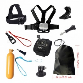 Chest Strap, Head Strap, Float Bobber Accessories Set for Gopro