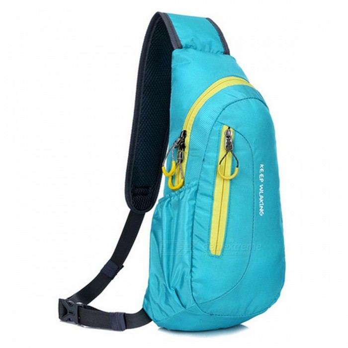 Waterproof Sport Bag for Outdoor Travel Camping - BlueForm  ColorBlueBrandOthers,Others,N/AModelN/AQuantity1 DX.PCM.Model.AttributeModel.UnitMaterialPolyesterTypeHiking &amp; CampingGear Capacity6 DX.PCM.Model.AttributeModel.UnitCapacity Range0L~20LRaincover includedNoBest UseOthers,Hiking, camping, running,climbing, travelingTypeHiking DaypacksPacking List1 x Sport Bag<br>
