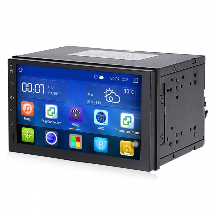 2 Din Android 5.1 Car Radio Stereo 7-inch Touch Screen Car DVD PlayerCar DVD Players<br>Form  ColorBlackModelCT0009Quantity1 DX.PCM.Model.AttributeModel.UnitMaterialElectronic Components,Metal,PlasticStyle2 Din In-DashFunctionOthers,-Compatible MakeOthers,Acura,Aston Martin,Audi,Bentley,BMW,Bugatti,Buick,Cadillac,Chevrolet,Chrysler,Citroen,Daewoo,Dodge,Ferrari,Ford,GMC,GMC GMC,Honda,Hummer,Hyundai,Infiniti,Jaguar,Jeep,Kia,Lamborghini,Land Rover,Lexus,Lincoln,Lotus,Maserati,Maybach,Mazda,Mercedes-Benz,Mercury,Mini Mini,Mitsubishi,Nissan,Opel,peugeot,PontiacCompatible Car ModelAcura,Aston Martin,Audi,Bentley,BMW,Bugatti,Buick,Cadillac,Chevrolet,Chrysler,Citroen,Daewoo,Dodge,Ferrari,Ford,GMC,GMC GMC,Honda,Hummer,Hyundai,Infiniti,Jaguar,Jeep,Kia,Lamborghini,Land Rover,Lexus,Lincoln,Lotus,Maserati,Maybach,Mazda,Mercedes-Benz,Mercury,Mini Mini,Mitsubishi,Nissan,Opel,peugeot,PontiacCompatible YearOthers,-Screen SizeOthers,7inchScreen Resolution1024 x 600Touch Screen TypeYesMenu LanguageOthers,English, Deutsch, French, Italian, Spanish, Magyar, Polski, Portuguese, Romania, Russian, Turkish, etc.Operating SystemOthers,Android 5.1Audio FormatsOthers,ASF,AVI,FLV,MKV,MOV,MP3,MP4,MPEG,RM,RMVB,VOB,WMVVideo FormatsOthers,AVI,DAT,FLV,MKV,MOV,MP4,MPEG,OGM,RMVB,VOB,XVIDRadio TunerAM,FMRadio Response BandwidthOthers,87.5 - 108MHzBluetooth VersionBluetooth V2.0External Memory Max. Support32 DX.PCM.Model.AttributeModel.UnitWorking Voltage   12 DX.PCM.Model.AttributeModel.UnitPacking List1 x Car DVD Player1 x Power Cable1 x GPS Antenna2 x Installation Chips4 x Screws1 x Frame1 x English User Manual<br>