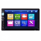 "Universal 7"" Touch Screen 2 Din Car MP5 Video Player - Black"
