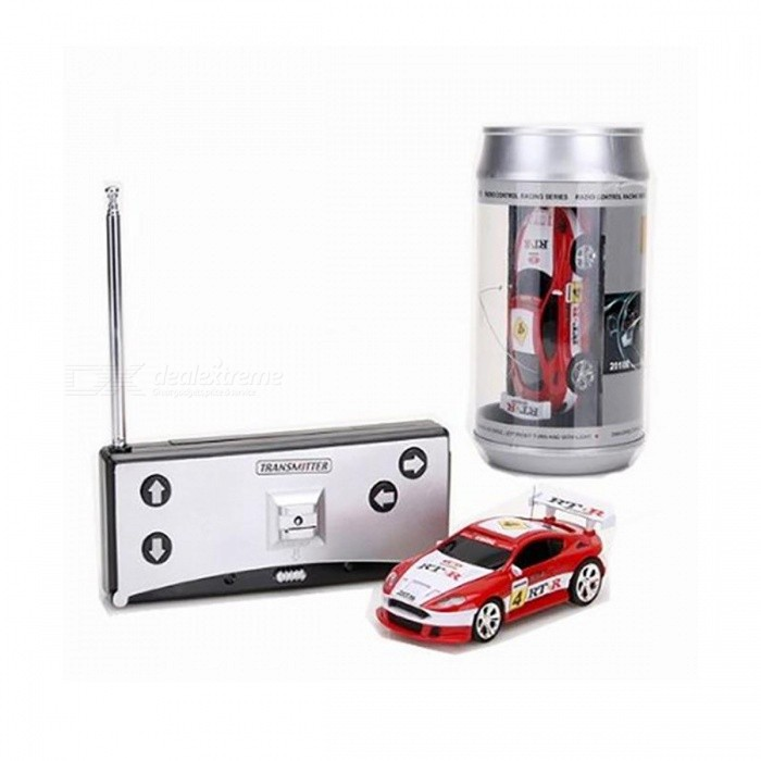 Coke Can Mini RC Car Radio Remote Control Micro Racing Car - Red