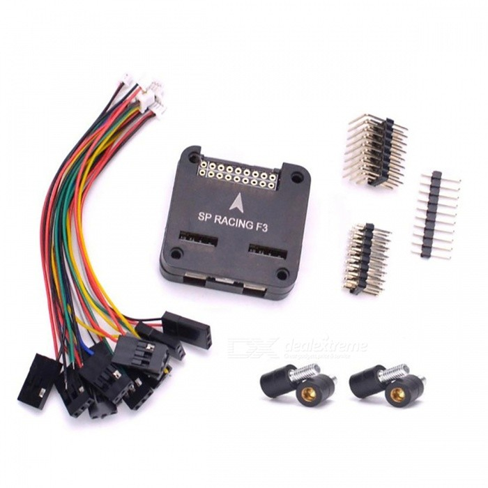 SP Pro Racing F3 Flight Controller - Black (Deluxe with Screws)Other Accessories for R/C Toys<br>Form  ColorBlack (Deluxe with Screws)ModelN/AMaterialMetalQuantity1 DX.PCM.Model.AttributeModel.UnitCompatible ModelRacing F3Packing List1 x F3 Flight Controller Board with shell (2 kinds of shell send at random)4 x Anti-Vibration Fixed Screws (send as your choice)<br>