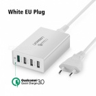 Ugreen 34W 4-Port USB Desktop Charging Station Quick Charge 3.0 -White