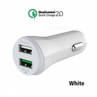 Ugreen 30W QC2.0 Dual USB Car Charger - White