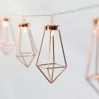 10-LED Warm White Fairy Light Metal Diamond Style String Light - 1.8M