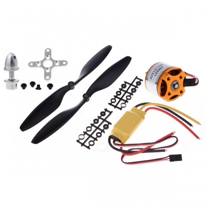 930KV Brushless Motor Quad-Rotor Set for RC Aircraft MulticopterOther Accessories for R/C Toys<br>Form  Color930KV Simon K30A1 1045ModelN/AMaterialMetalQuantity1 DX.PCM.Model.AttributeModel.UnitCompatible ModelVehicles &amp; Remote Control ToysPacking List1 x 930KV Brushless Outrunner Motor with Mounts1 x 30A1 Built-in BEC 2A Brushless ESC1 x Pair of 1045L/R Propellers (Black)<br>