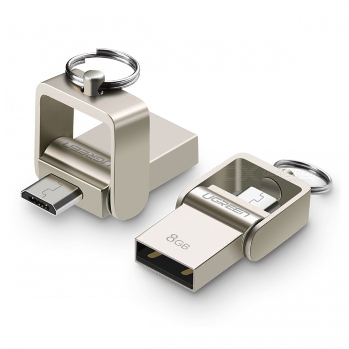 Ugreen US179 8GB USB 2.0 OTG Flash Drive U Disk-Gold