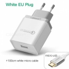 Ugreen CD122 QC3.0 USB Charger Adapter with 1m Micro USB Cable - White
