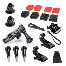 Accessories Set Kits Surface Base Adapter 3 Way Tripod Mount for Gopro