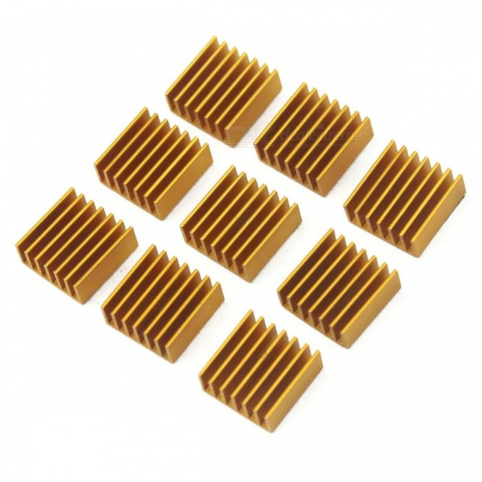 Aluminum Cooling Heat Sink 14x14x6MM (50 PCS)Hardware Cooling Gears<br>Form  ColorGoldenQuantity1 DX.PCM.Model.AttributeModel.UnitShade Of ColorGoldMaterialAluminumPacking List50 x Heat Sinks<br>