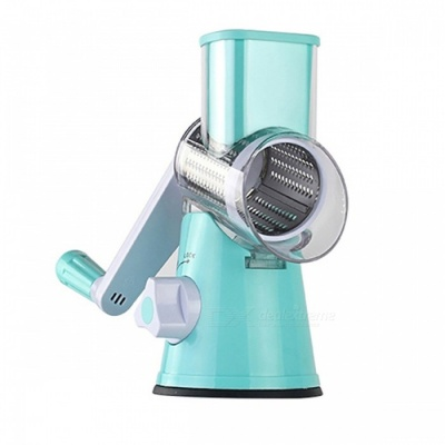 Round Mandoline Slicer Vegetable Cutter - Blue