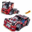2-in-1 608Pcs Race Truck Car Transformable Model DIY Toy