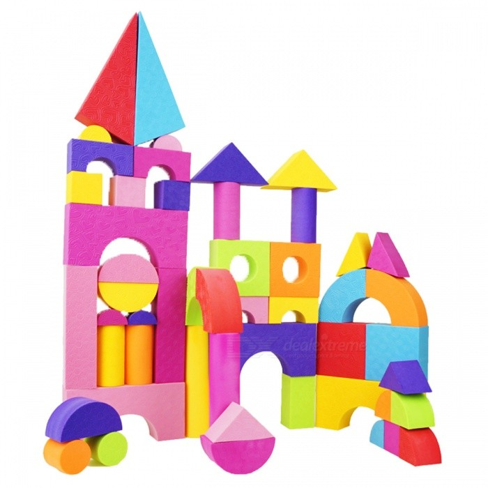 50Pcs EVA Safe Building Brick Block Toy for ChildrenBlocks &amp; Jigsaw Toys<br>Form  ColorColourfulMaterialEVA PlasticQuantity1 DX.PCM.Model.AttributeModel.UnitNumber50Size/Suitable Age 3-4 yearsPacking List50 x Building Blocks<br>