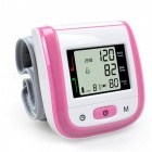 Home Health Care Automatic Wrist Blood Pressure Monitor - Pink