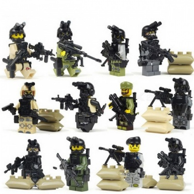 Ghost Assault Military Soldier Weapons Model Toy Building Block -12PCS