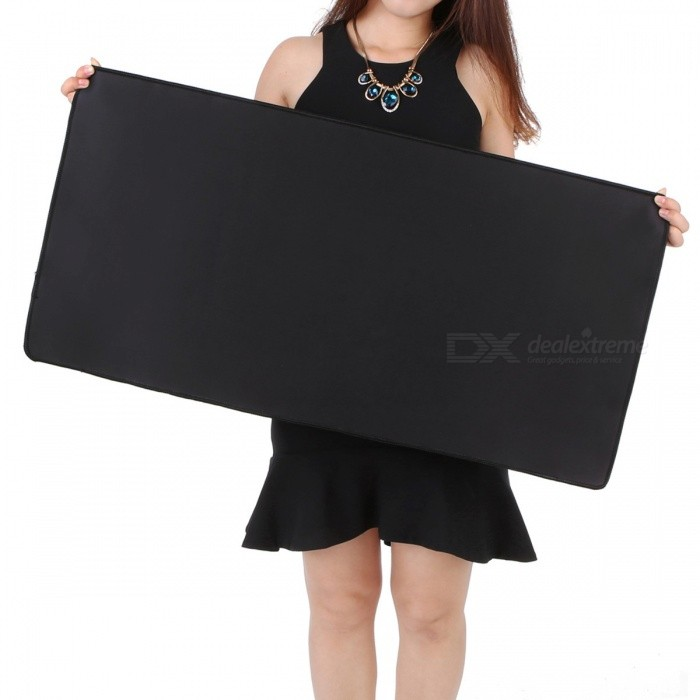 Water Resistant Anti-slip Natural Rubber Gaming Mousepad (800x300x3mm)Mouse Pads<br>Form  Color800x300x3mmQuantity1 DX.PCM.Model.AttributeModel.UnitShade Of ColorBlackMaterialRubber and smooth fabricPacking List1 x Mouse pad<br>