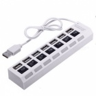 7-Port High Speed USB Hub with On Off Switch - White