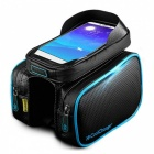 CoolChange Bicycle Frame Front Head Top Tube Waterproof Bag - Blue