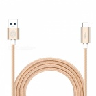 Nillkin Nylon USB 3.0 to Type-C Data Charging Cable - Champagne Gold