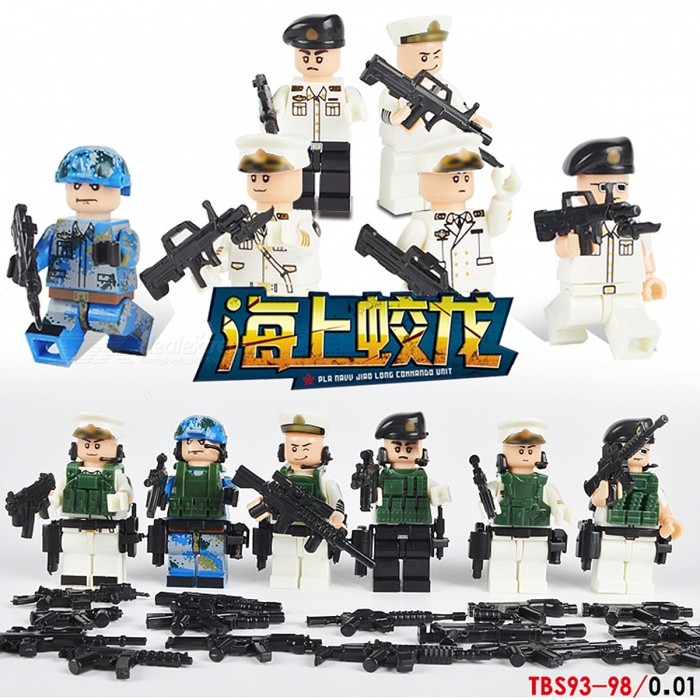 6Pcs/Lot Modern Military Armed Forces SWAT Jungle Maze Toy - WhiteBlocks &amp; Jigsaw Toys<br>Form  ColorWhiteMaterialPlasticQuantity1 DX.PCM.Model.AttributeModel.UnitNumber246Suitable Age 3-4 years,5-7 years,8-11 yearsPacking List246 x Building Blocks<br>