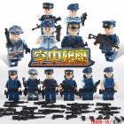 6Pcs/Lot Modern Military Armed Forces SWAT Jungle Maze Toy - Blue