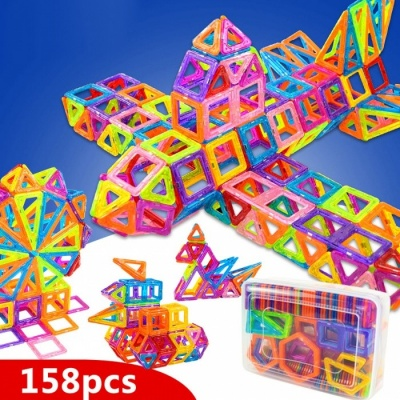 158Pcs Magnetic Blocks Toy for Kids
