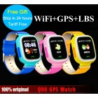 Q90 Fashion GPS Positioning Watch Phone w/ Wi-Fi for Children - Blue