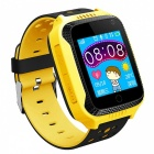 Q42 Children GPS Tracker Phone Watch with Touch Screen Clock - Yellow