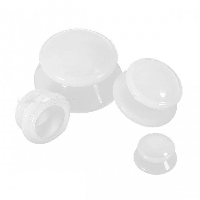 moisture absorber anti cellulite vacuum cupping cup white 4pcs free shipping dealextreme. Black Bedroom Furniture Sets. Home Design Ideas