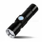 Outdoor Zooming LED Flashlight Bicycle Cycling Light Lamp - Black