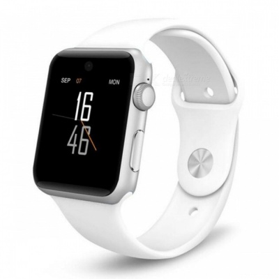 LF07 Bluetooth Smart Watch Sync Notifier Support Sim Card - White