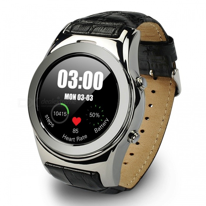 A8S Smart Watch Phone Support SIM SD Card - SilverSmart Watches<br>Form  ColorSilverModelA8SQuantity1 DX.PCM.Model.AttributeModel.UnitMaterialAlloy + LeatherShade Of ColorSilverCPU ProcessorMTK2502Screen Size1.3 DX.PCM.Model.AttributeModel.UnitScreen Resolution240*240Network Type2GCellularGSMBluetooth VersionBluetooth V4.0Compatible OSAndroid, IOSLanguageFrench,Dutch,Italian,Russian,Hebrew,Turkish,German,Arabic,Spanish,Polish,Portuguese,EnglishWristband Length24 DX.PCM.Model.AttributeModel.UnitWater-proofOthers,Life WaterproofBattery ModeReplacementBattery TypeLi-ion batteryBattery Capacity370 DX.PCM.Model.AttributeModel.UnitStandby Time3-5 DX.PCM.Model.AttributeModel.UnitPacking List1 x Smart Watch1 x Charging Cable<br>