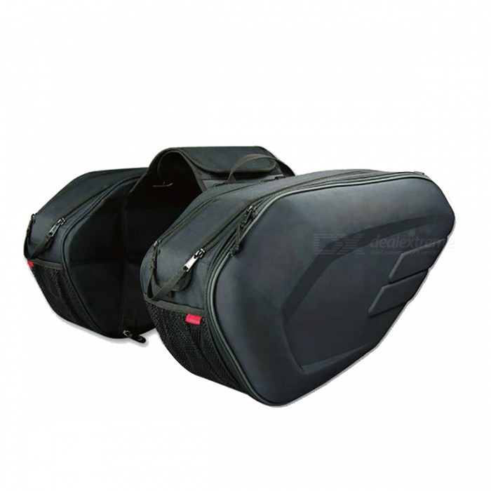 Large Capacity Oxford Motorcycle Saddle Bag with Rain CoverOthers<br>Form  ColorBlackQuantity1 setMaterialOxfordPacking List1 Pair x Saddle Bag1 Pair x Rain Cover<br>