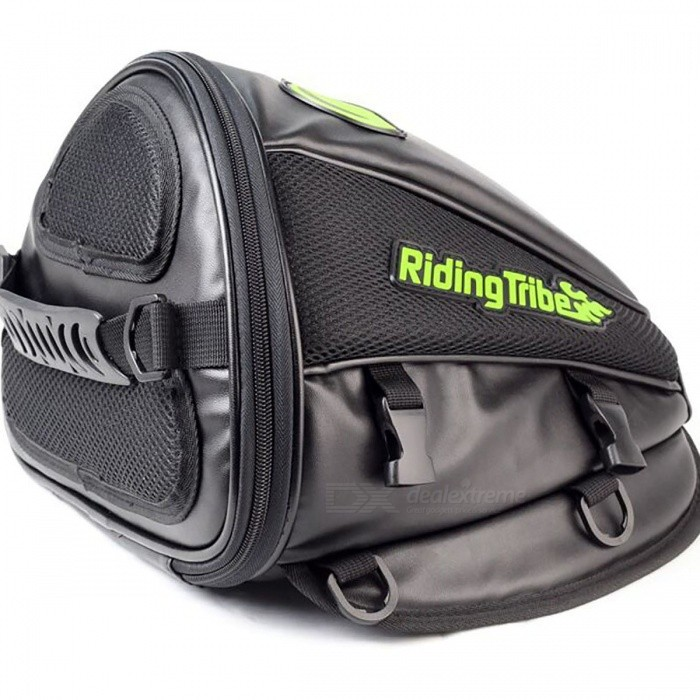Riding Tribe Waterproof Motorcycle Oil Tank Seat BagOthers<br>Form  ColorBlackQuantity1 setMaterialPU + Oxford clothPacking List1 x Oil Tank Tail Bag<br>