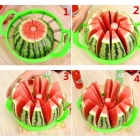 Creative Watermelon Slicer Melon Cutter Knife - Green