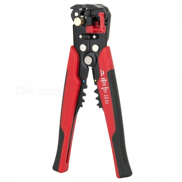 Cable Wire Stripper Automatic Crimping Tool Peeling Pliers - Red ...