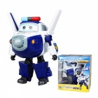 12cm ABS Super Wings Deformation Airplane Robot Toy - White, Blue