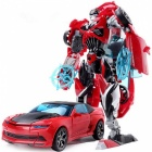 18.5cm Plastic Transformation Robot Car Action Toy - Red