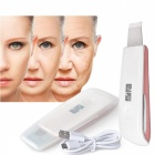 Ultrasonic Ion Deep Cleaning Face Peeling Massager - Pink